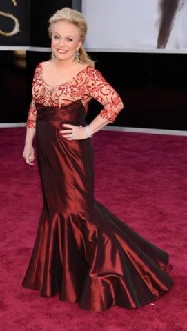 Jacki Weaver, looking like a mermaid, not giving a hoot
