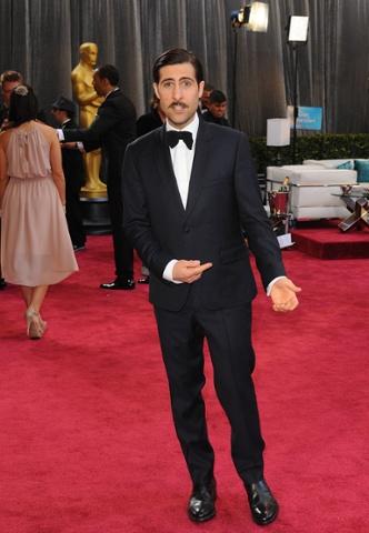 Jason Schwartzman arriving for the Oscars.