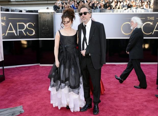 Helena Bonham Carter and Tim Burton arrive at the Oscars