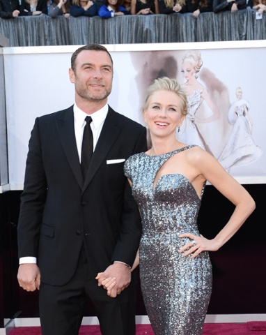 Liev Schreiber and Naomi Watts arrive at the Oscars