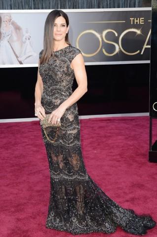 Sandra Bullock arrives at the Oscars