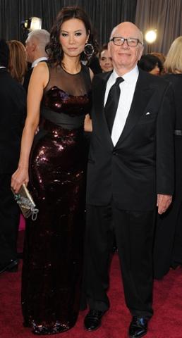 Rupert Murdoch and Wendi Deng, having a romantic night a deux