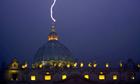 Lightning strikes St Peter's dome