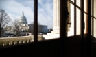 """A general view of the U.S. Capitol is seen from the Russell Senate Office Building in Washington, February 25, 2013. Pressure is mounting on Congress and the White House to find a way to avoid a package of $85 billion in across-the-board-spending cuts, known as the """"sequester,"""" due to take effect on March 1."""