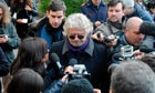 Beppe Grillo arrives to vote