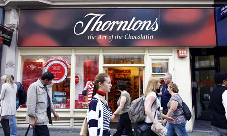Thorntons results chocolate supplier supermarkets