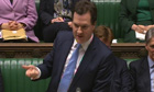 Chancellor George Osborne Triple A rating