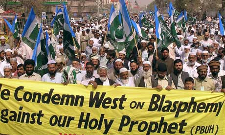 Pakistan protest over Muhammad caricatures