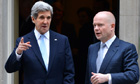 Secretary of State John Kerry Foreign Secretary William Hague