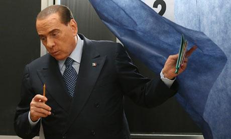 Italy election euro crisis silvio berlusconi