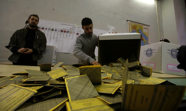Ballots are being counted at a