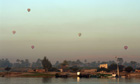 Hot air balloons over the Nile, Egypt