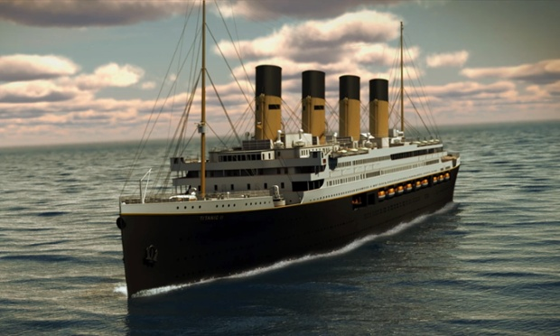 A computer image of the exterior of Titanic 2