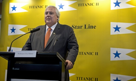 Australian tycoon Clive Palmer talks about his plan for building a successor to the Titanic at a news conference February 26, 2013 in New York