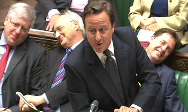 David Cameron is taking PMQs.