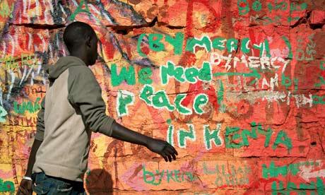 Kenya election wall