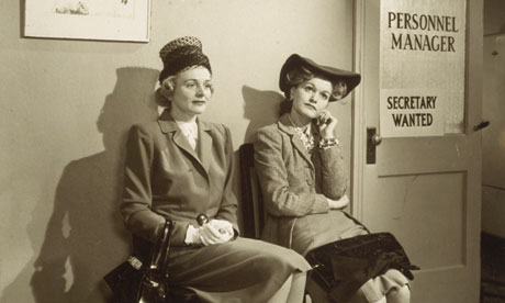 Job hunters in 1945