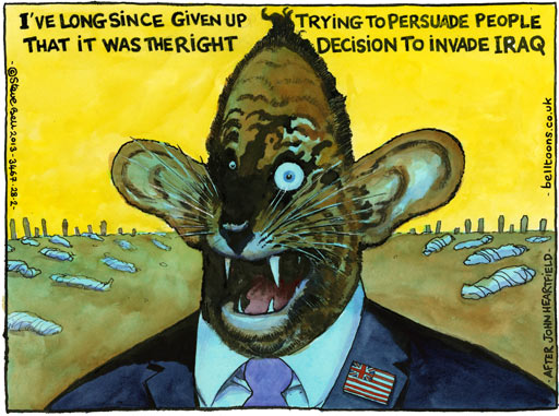 Steve Bell on the 10th anniversary of the Iraq war ~ cartoon