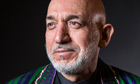 The Afghan president, Hamid Karzai