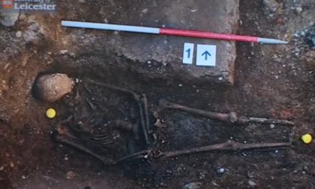 Un esqueleto que puede ser el de Ricardo III.