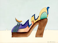 Birdlike Shoe 1974 by Bar 001 Illustrator Barbara Nessim: I was just steering my own ship