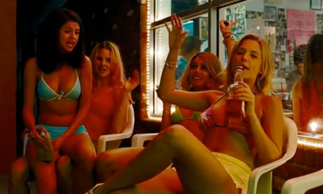 Selena Gomez, Rachel Korine, Ashley Benson, and Vanessa Hudgens in a ...