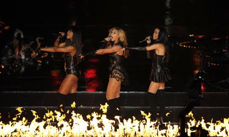 Beyonce fire dance at Super Bowl.