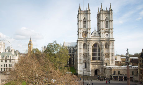 Westminster abbey where remains believed to belong to the princes in
