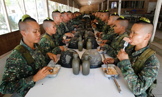 There are an estimated 350 women combatants in the 10,000-member Philippine marines