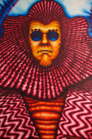 Machino, 1976 by Ed Paschke, an exhibit from Glam! The performance of style exhibition at Tate Liverpool. .