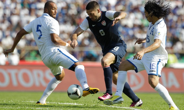 Clint Dempsey Victor Bernardez Roger Espinoza USMNT Honduras
