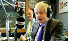Boris Johnson radio
