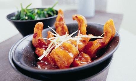 Ken Hom's fish in a hot & sour sauce recipe.