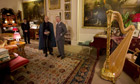 Hamid Karzai with Prince Charles at Clarence House in London