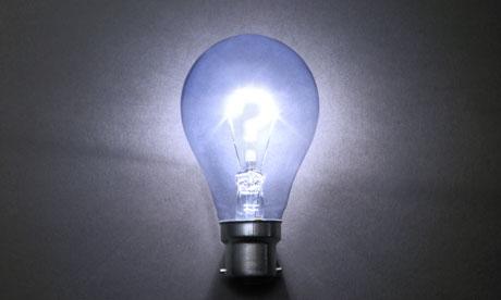 Light bulb question mark