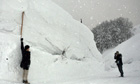 Japan's record snowfall still not the deepest ever