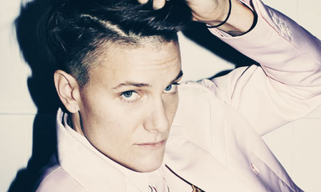 Casey Legler wearing Givenchy suit