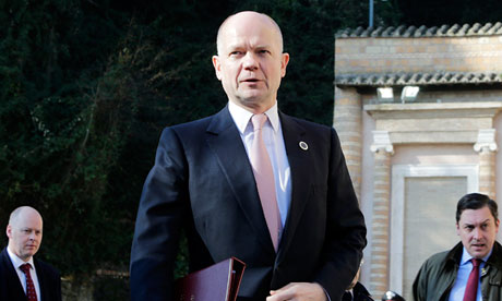 William Hague in Rome