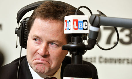 Nick Clegg was pushed to state his schooling preference for his on his LBC radio phone-in show
