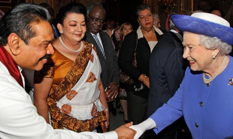 Queen Elizabeth II Attends A Commonwealth Heads Of Government Lunch