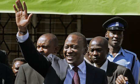 Newly elected President Uhuru Kenyatta (