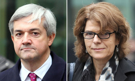 Former energy secretary Chris Huhne and his ex-wife, Vicky Pryce