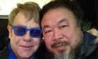 Ai Weiwei with Elton John