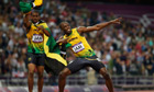 Usain Bolt and Yohan Blake at London 2012