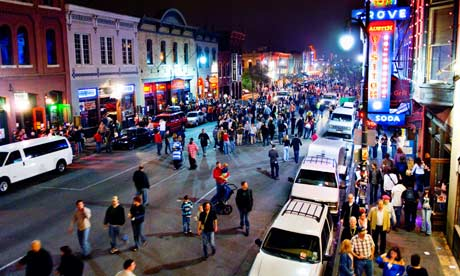 people on 6th Street in Austin Texas during SXSW