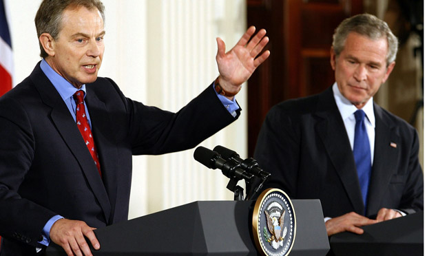 Bush And Blair Hold Joint Press Conference