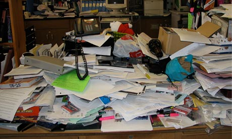 Is your messy desk driving your colleagues mad? | Money | The Guardian