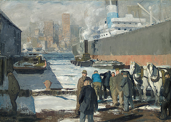 George Bellows: George Bellows, Men of the Docks, 1912