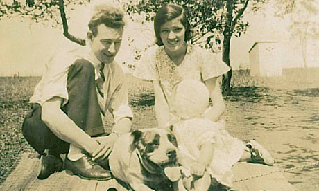 Emma Brockes' mother as a baby with her parents
