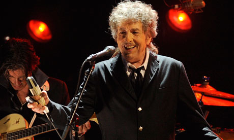 Bob Dylan is to join the ranks of the century-old American Academy of Arts and Letters. Photograph: Chris Pizzello/AP